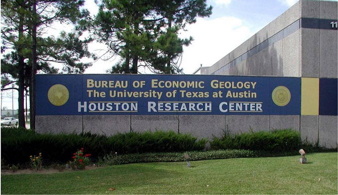 Entrance to the new core repository of the Houston Research Center.