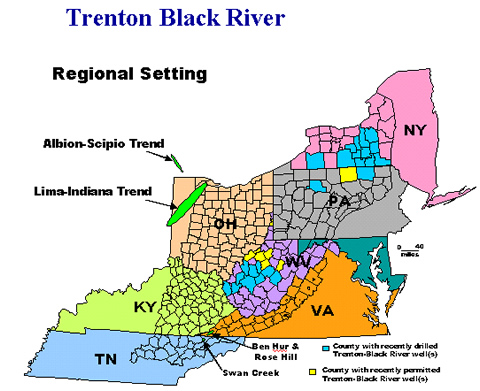 Map of Trenton Black River - Regional Setting
