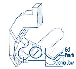 Schematic of polyethylene gel bonding application concept