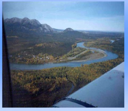 Aerial View of Lime Village, Alaska