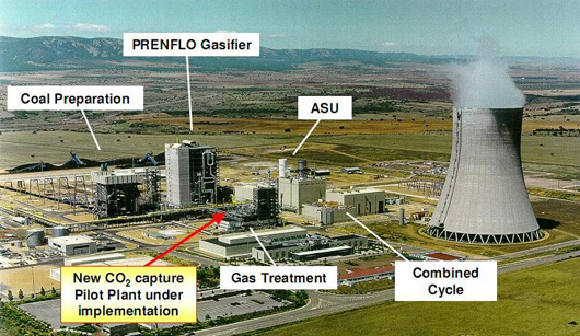 Overview of the ELCOGAS IGCC Facility, Puertollano, Spain (source: Uhde)