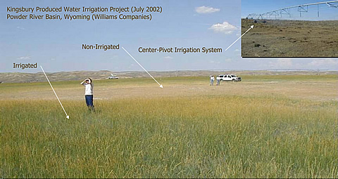 Irrigated versus non-irrigated areas are contrasted.