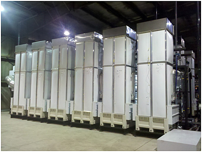 AltelaRain® 600 unit module and water treatment towers.