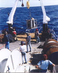 DTAG seismic source being deployed. Courtesy Naval Research Laboratory