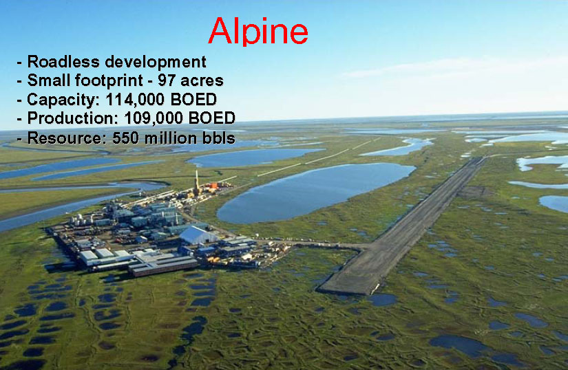 An example of modern oil field development on Alaska's North Slope.