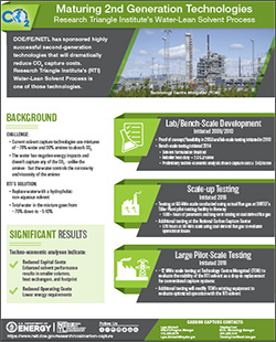Linde/BASF's Advanced Aqueous Amine Solvent Process is one of the highly successful 2nd-generation technologies that will reduce CO2 capture costs.
