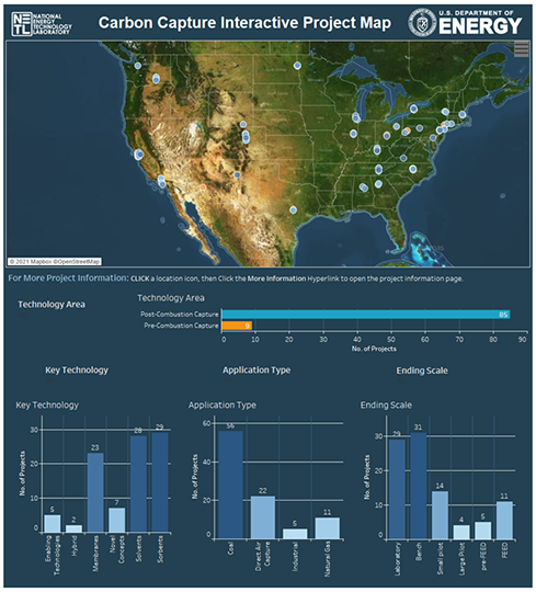 Click to view the Carbon Capture Interactive Projects Map
