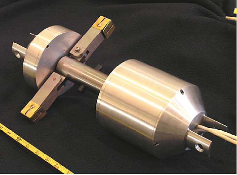 Rotating permanent magnet inspection device for a twelve inch pipe