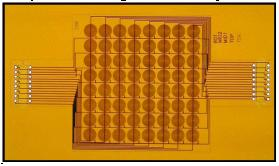 Array of 64 sensing coils used to prove feasibility of eddy current approach