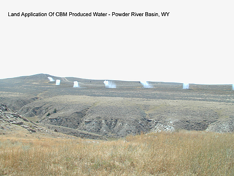 Land application of CBM produced water  in the Powder River Basin, WY