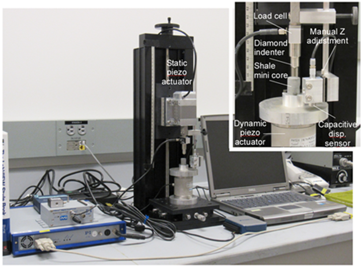 Figure 6: Instrumented laboratory micro-indention system.