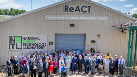 Congressional leaders and DOE officials helped us dedicate a new Reaction Analysis and Chemical Transformation (ReACT) facility