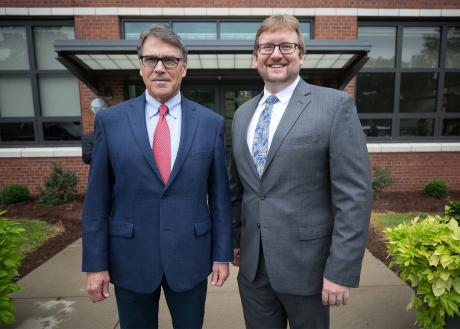Rick Perry and Brian Anderson