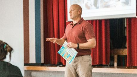 "NETL K-12 STEM Education & Outreach program lead Ken Mechling served as a co-presenter at the Energy ""Train the Trainer"" Teacher Workshop in the Ridgway School District in Ridgway, Pennsylvania, Aug. 15."